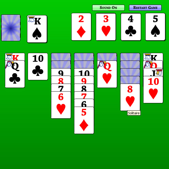 Quick Solitaire is a simple card game, where the object is to rearrange cards in the deck by suit and in order.